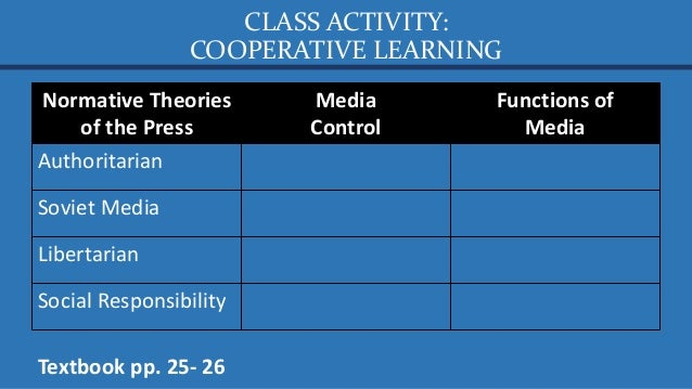 FORMATIVE ASSESSMENT: RECITATION How will you describe media in the Philippines using the normative theories of the press?...