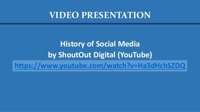 VIDEO PRESENTATION How Has Technology Changed Us? The Medium is the Message by BBC Radio 4 (YouTube) https://www.youtube.c...