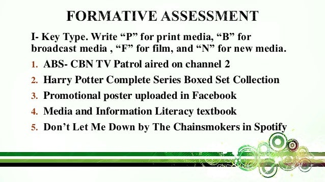 Media And Information Literacy Mil Types Of Media Part 1 Types O