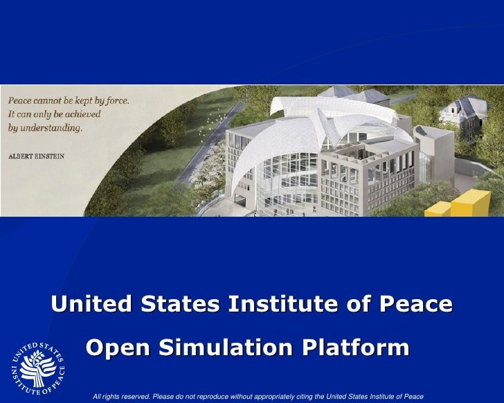 United States Institute of Peace Open Simulation Platform