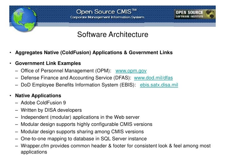 DISA's Open Source Corporate Management Information System