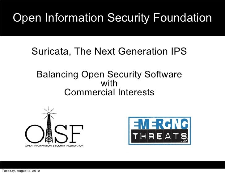 The Next Generation Open IDS Engine Suricata and Emerging Threats