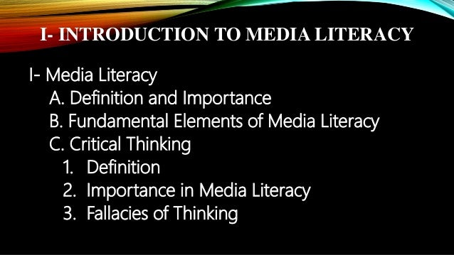 critical thinking media literacy Finally, while media literacy does raise critical questions about the impact of media and technology, it is not an anti-media movement rather, it represents a coalition of concerned individuals and organizations, including educators, faith-based groups, health care-providers, and citizen and consumer groups, who seek a more enlightened way of .