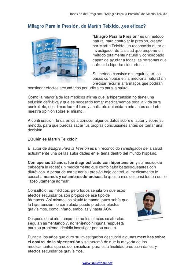 """Revisión del Programa """"Milagro Para la Presión"""" de Martín Teixido www.saludtotal.net Milagro Para la Presión, de Martín Te..."""