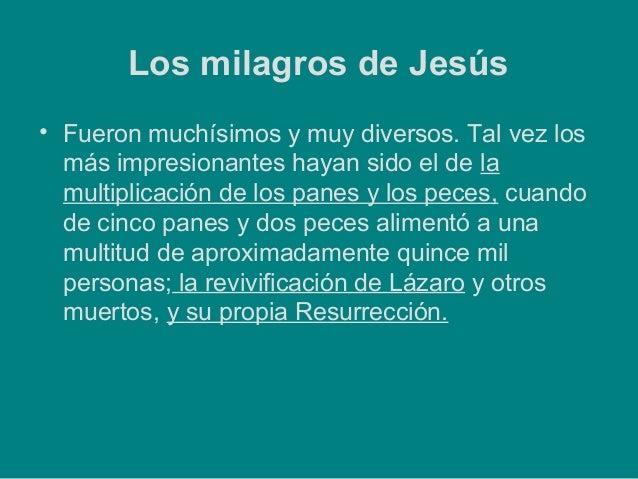 Milagros de jesus. aula de innovación Slide 2