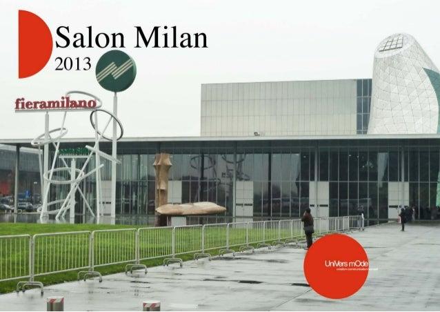 Salon du meuble Milan 2013