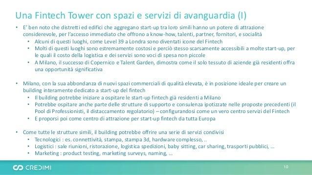 Una Fintech Tower con spazi e servizi di avanguardia (I) • E' ben noto che distretti ed edifici che aggregano start-up tra...