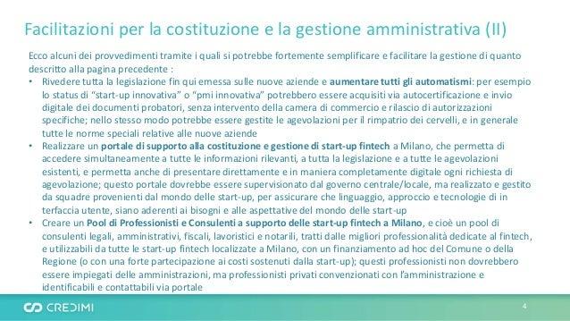 Facilitazioni per la costituzione e la gestione amministrativa (II) Ecco alcuni dei provvedimenti tramite i quali si potre...