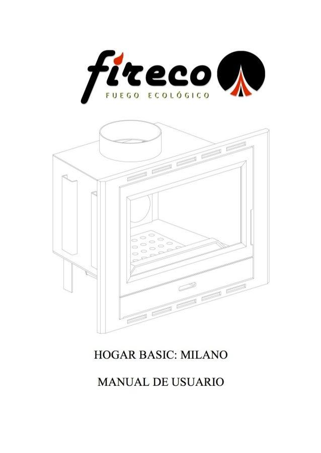Manual de instrucciones Milano