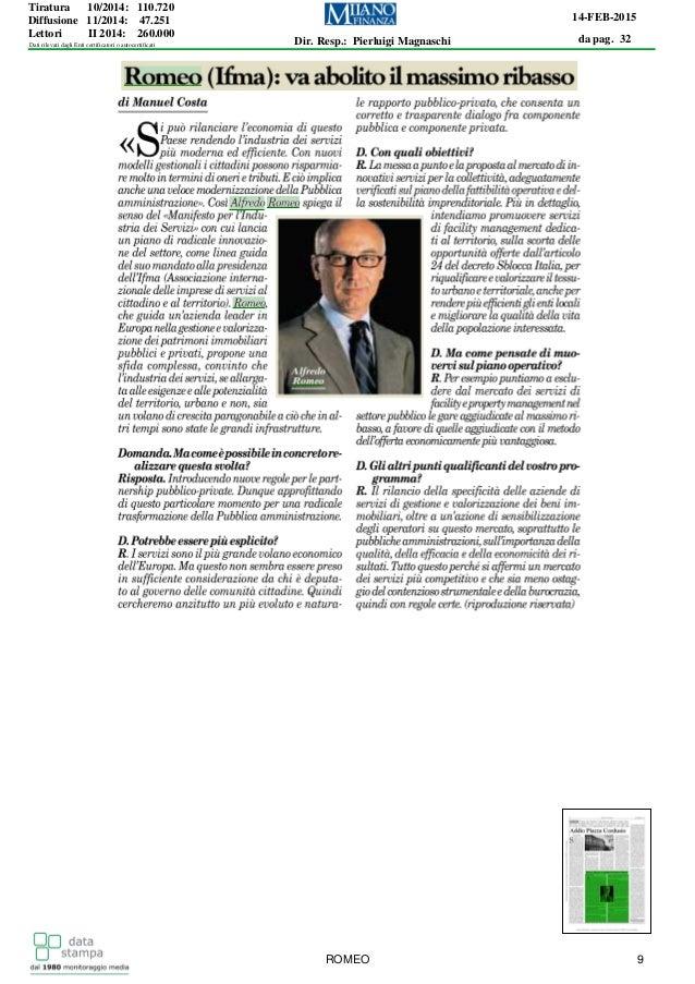 da pag. 32 14-FEB-2015 Dir. Resp.: Pierluigi Magnaschi Tiratura 10/2014: 110.720 Diffusione 11/2014: 47.251 Lettori II 201...