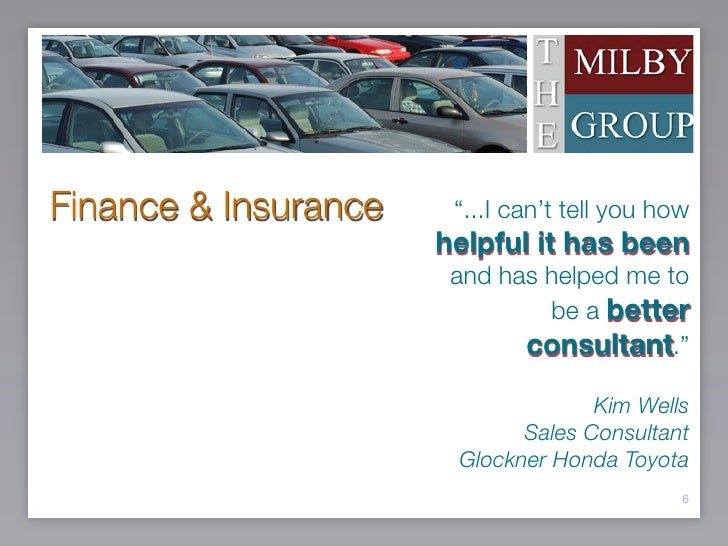 Glockner Auto Credit >> The Milby Group Presentation