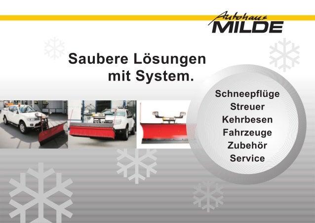 Schneepflüge und Kehrbesen | Autohaus Milde KG Heidenheim