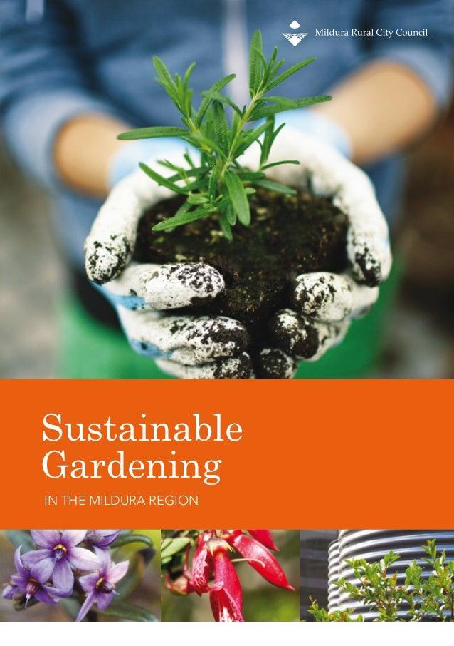 SustainableGardeningIN THE MILDURA REGION