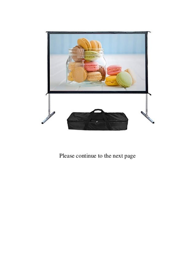 Mileagea Outdoor Screen 100-inch 169 4K Ultra HD Ready Portable Foldable Movie Theater Projector Screens  Slide 2