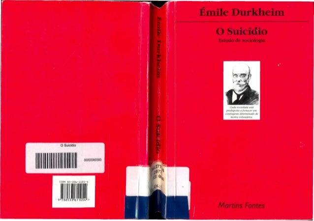 éMile durkheim   o suicídio