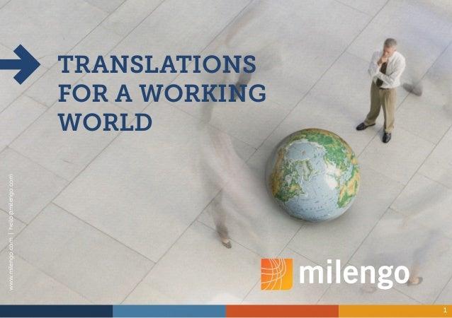 www.milengo.com | hello@milengo.com                                               4                                       ...