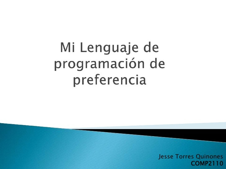 Jesse Torres Quinones           COMP2110