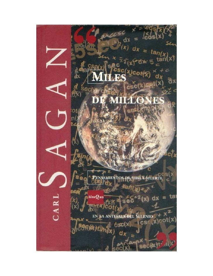 Miles de millones                  Pensamientos de vida y muerte en la antesala del milenio                               ...