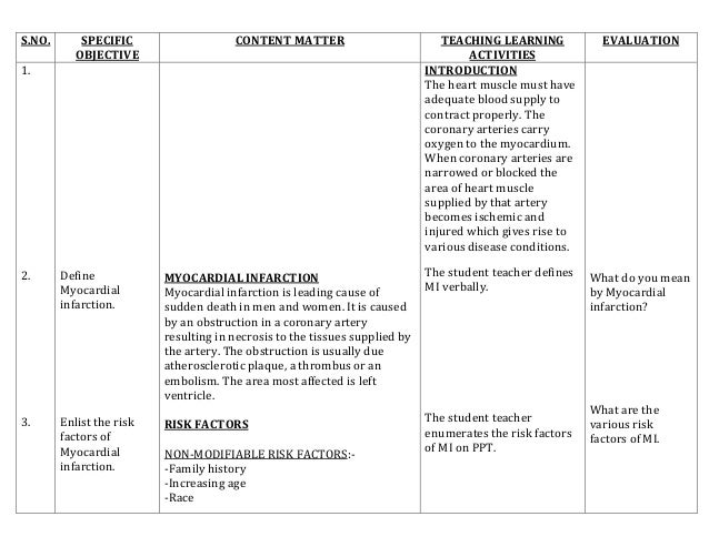 nursing lesson plan template