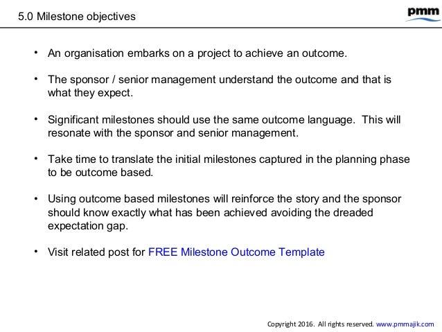 project plan milestones template