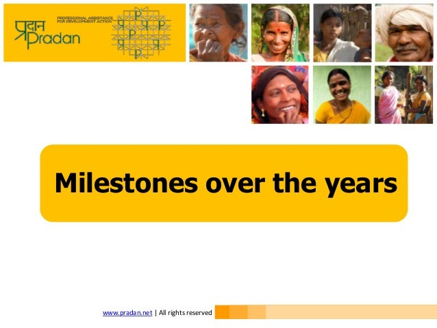 Milestones over the years  www.pradan.net | All rights reserved