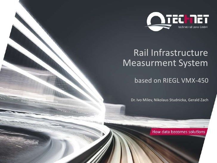 Rail InfrastructureMeasurment System   based on RIEGL VMX-450 Dr. Ivo Milev, Nikolaus Studnicka, Gerald Zach
