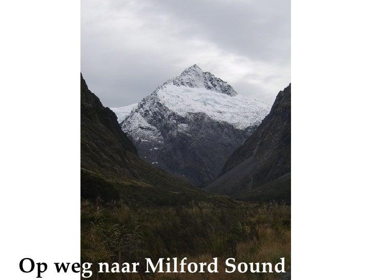 Op we g naar Milford Sound