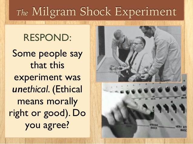 a study on the issues and dangers of the milgram experiment Milgram's 1963 obedience experiment is still a disquieting study today share this: click to which showed most people apparently are willing to inflict increasingly painful and dangerous electrical shocks to a stranger if ordered to do spurred in part by the milgram experiment.