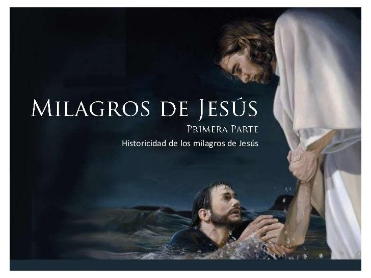 Milágros de jesús   primera parte