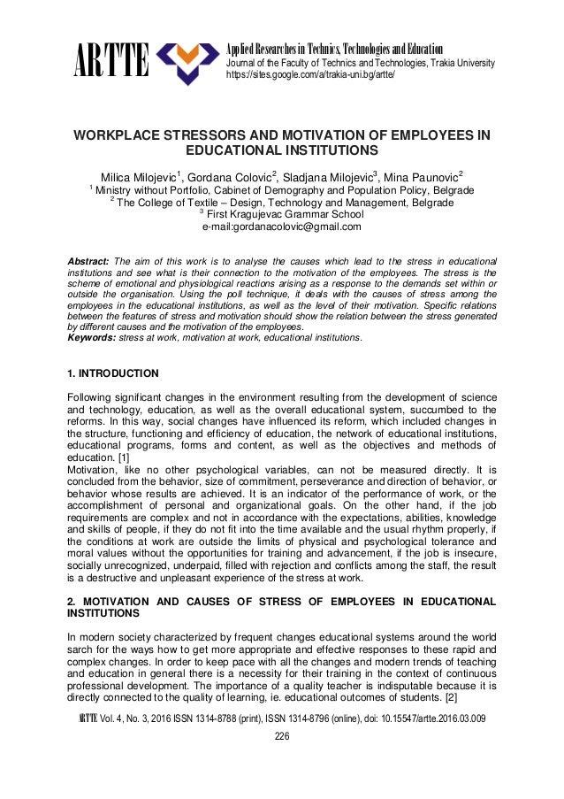 ARTTE Applied Researchesin Technics,TechnologiesandEducation Journal of the Faculty of Technics and Technologies, Trakia U...