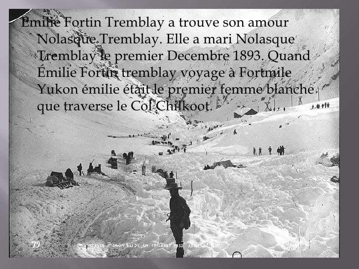 Emilie Fortin Tremblay a trouve son amour  Nolasque Tremblay. Elle a mari Nolasque  Tremblay le premier Decembre 1893. Qua...