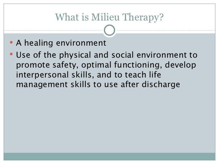 therapeutic milieu