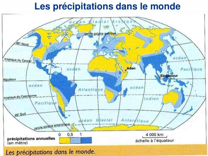 Les précipitations dans le monde