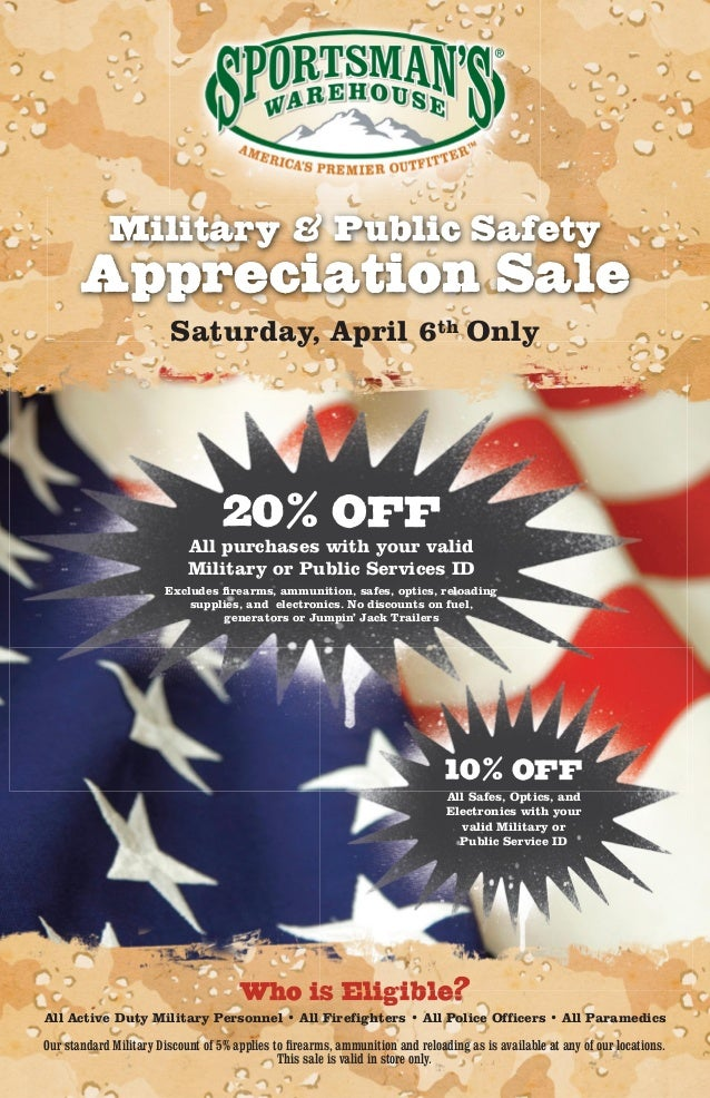 Military & Public Safety       Appreciation Sale                         Saturday, April 6th Only                         ...