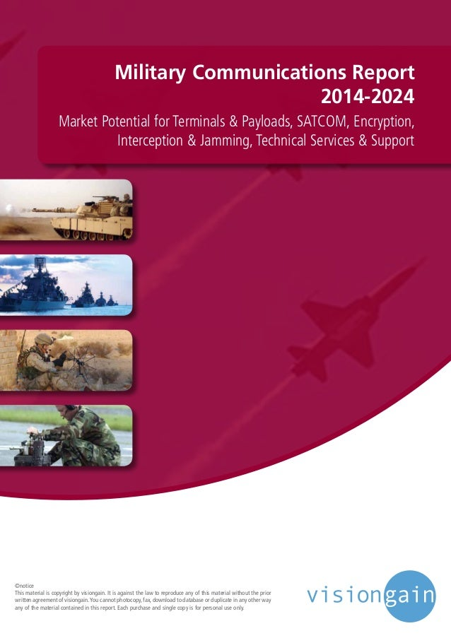Military Communications Report 2014-2024 Market Potential for Terminals & Payloads, SATCOM, Encryption, Interception & Jam...