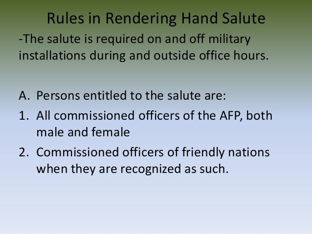 military courtesy and salute Initial entry training (iet) military customs courtesies field manual no 7-2113 chapter 4 customs, courtesies, and traditions  - the hand salute - other .
