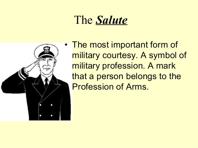how to salute an officer