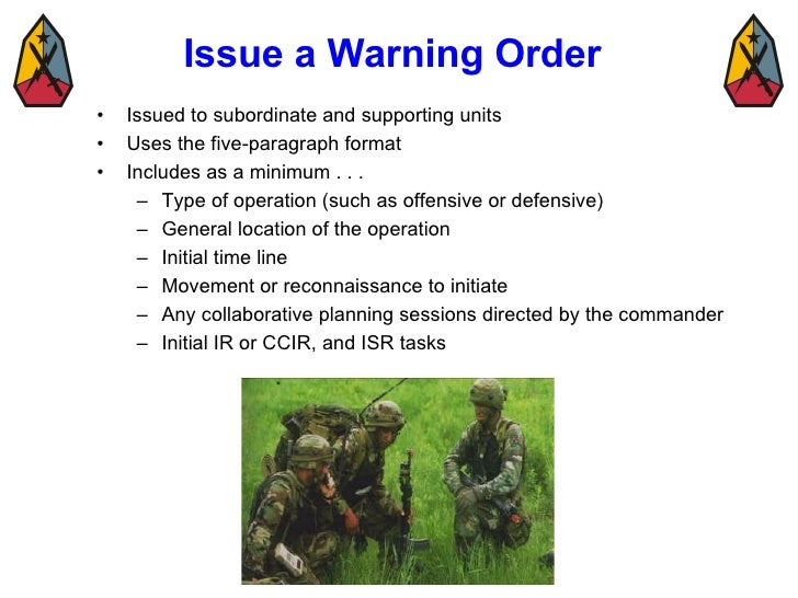 U s army warning order pictures to pin on pinterest for Usmc warning order template