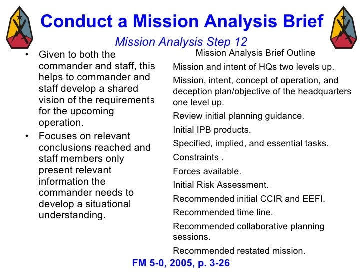 Military decision making process mar 08 3 20 pronofoot35fo Images