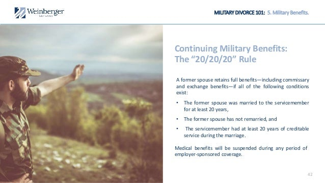 military benefits for divorced spouse