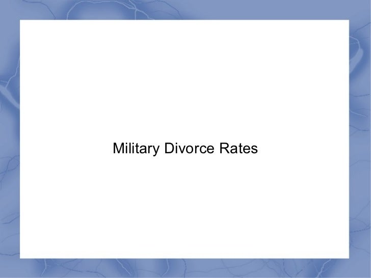 Military Divorce Rates