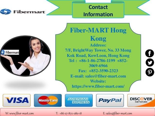 Fiber-MART Hong Kong Address: 7/F, BrightWay Tower, No. 33 Mong Kok Road, KowLoon, Hong Kong Tel : +86-1-86-2786-1199 +852...