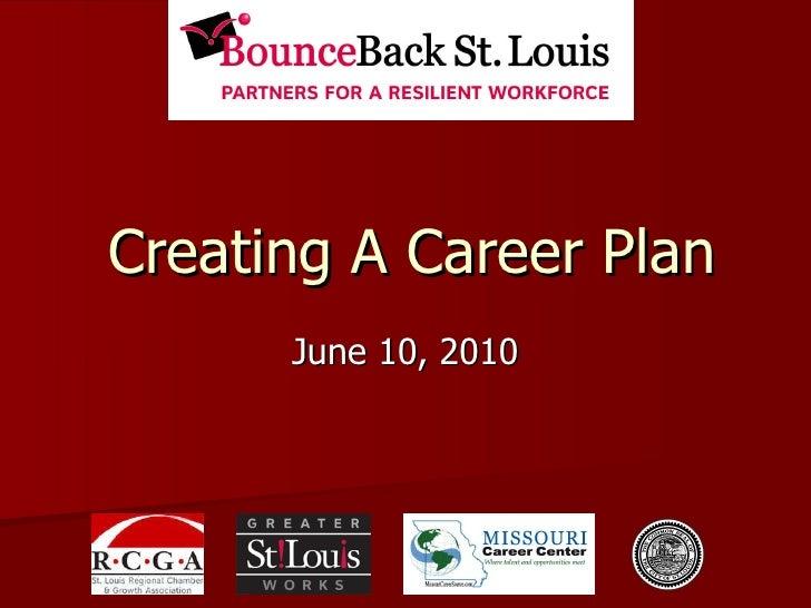 Creating A Career Plan June 10, 2010