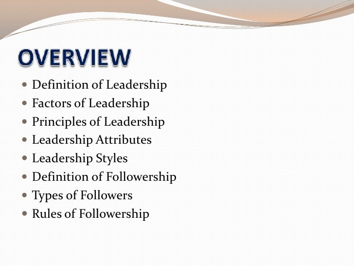 a definition and types of leadership Along with each leadership style, you'll find a short definition  if fact, facilitation  skills are really important in certain types of leadership situations such as the.