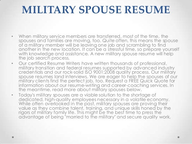 military spouse resume