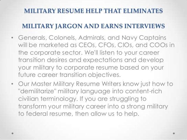 military resume help - Military Resume Help
