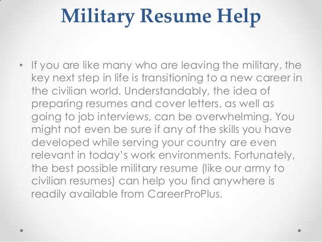 military skills resumes