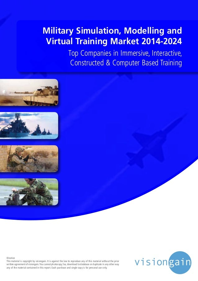 Military Simulation, Modelling and Virtual Training Market 2014-2024 Top Companies in Immersive, Interactive, Constructed ...