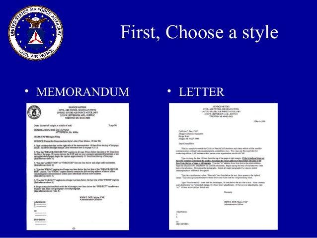 memorandum styles
