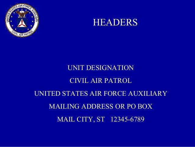 military style correspondence